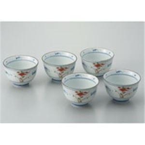 (業務用20セット) ピーアンドエス 染赤絵煎茶碗 5客揃/10301 【×20セット】