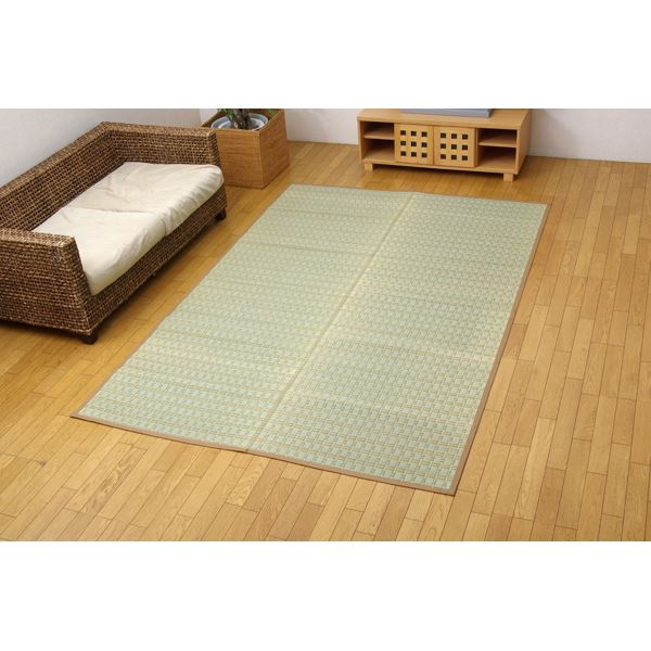掛川織 い草カーペット 『雲仙』 ベージュ 本間8畳(382×382cm)
