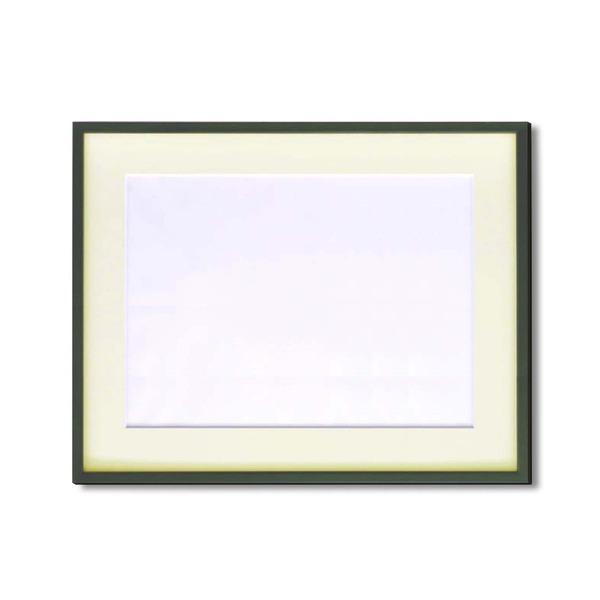 絵画 関連商品 【額縁】マット・壁掛けひも・アクリル付 ■5767水彩額F8号 マット付 (グリーン)