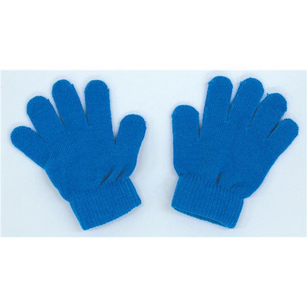 日用品雑貨 生活日用品 雑貨 (まとめ買い)カラーのびのび手袋 青 【×50セット】