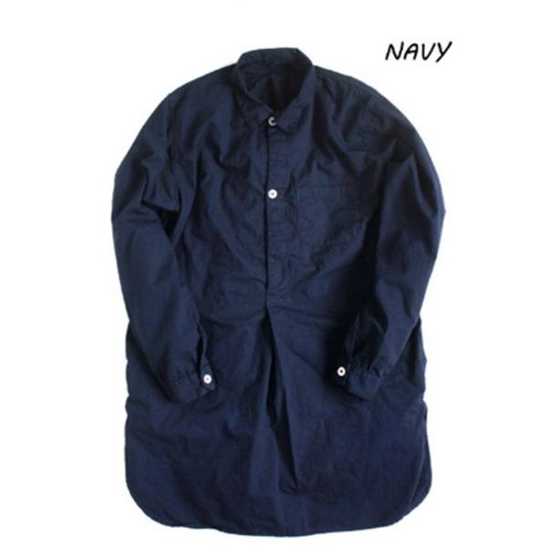 生活日用品 スウェーデン軍プルオーバースリーピングシャツ後染めレプリカ ネイビー《36(レディースフリー相当)》