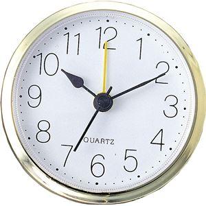 生活日用品 雑貨 (まとめ買い)丸型時計 ゴールド アラーム付 【×15セット】