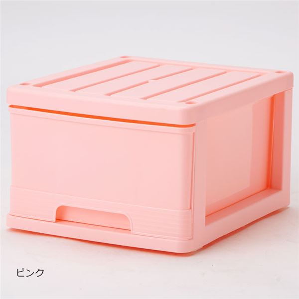 インテリア・寝具・収納 収納家具 関連 深型収納ケース ピンク 4個組