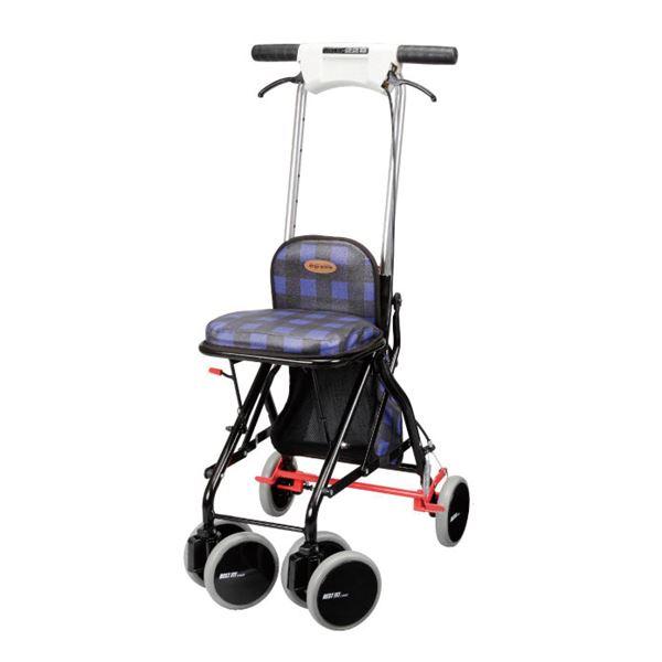 介護用品 移動・歩行支援用品 カート・シルバーカー 関連 ユーバ産業 シルバーカー アップダウン ブルー UD-0228
