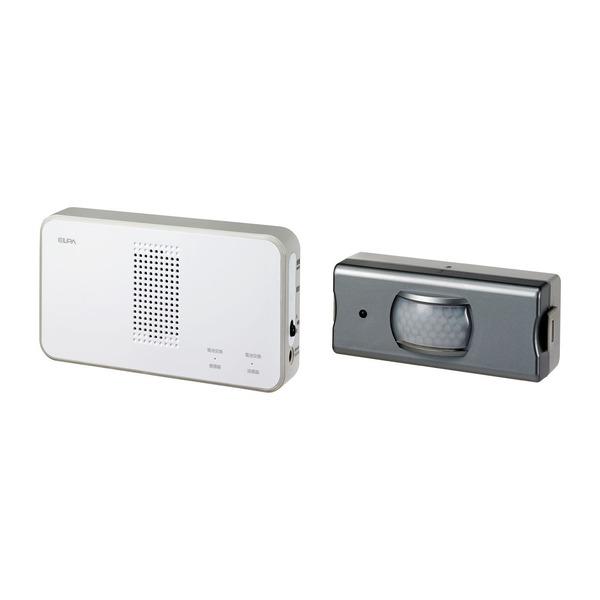 生活日用品関連商品 ワイヤレスチャイム 受信器+センサー送信器セット EWS-S5033