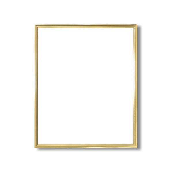 絵画 関連商品 デッサン額縁/フレーム 【半切サイズ 545×424mm】 ゴールド 壁掛けひも付き 化粧箱入り 5002