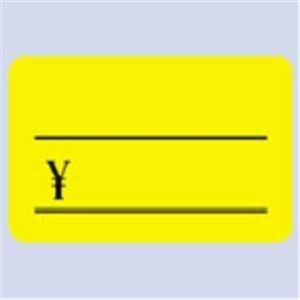 生活用品・インテリア・雑貨 (業務用100セット) タカ印 蛍光カード 14-3625 小¥付 レモン 30枚 【×100セット】