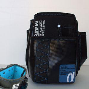 DIY・工具 (まとめ)電工ポケット WAIST GEAR 【腰袋×2セット】 ブルー(青) マーベル MDP-90AB