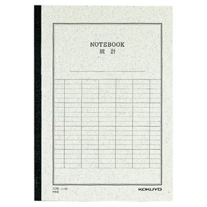 生活用品・インテリア・雑貨 (まとめ) コクヨ 統計ノート セミB5 縦罫6本 40枚 ノ-4V 1冊 【×20セット】
