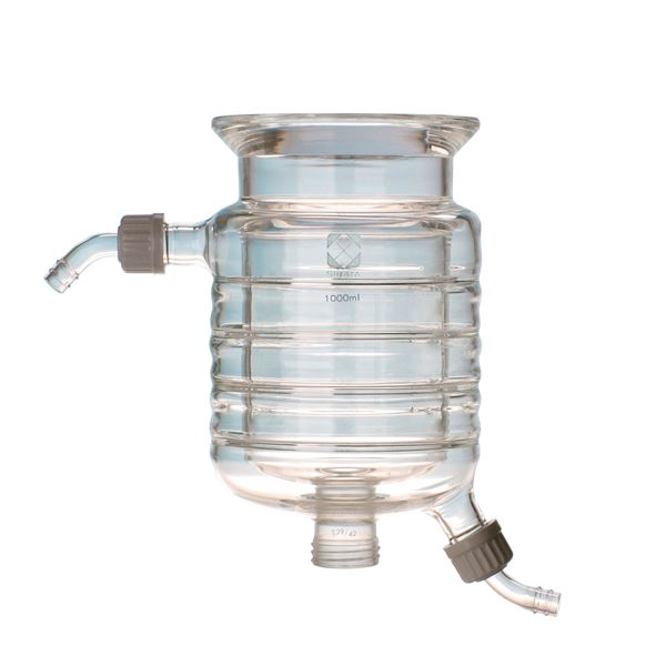 セパラブルフラスコ 円筒ジャケット形 バンド式(SCHOTTタイプ) 150mm 3L