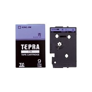 生活用品・インテリア・雑貨 (業務用30セット) キングジム テプラTRテープ TC9B 青に黒文字 9mm 【×30セット】