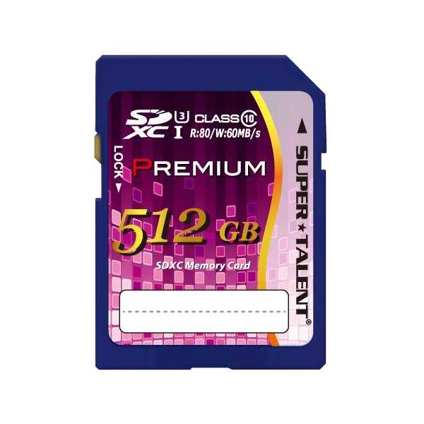 パソコン 外付けメモリカードリーダー 関連 SUPERTALENT SUPER TALENT UHS-I SDXCメモリーカード 512GB Class10 ST12SU1P