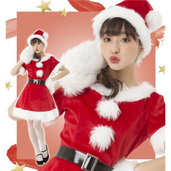 コスプレ・変装・仮装 コスチューム一式 関連 コスプレ クリスマス 衣装 カラフルサンタ レディース レッド