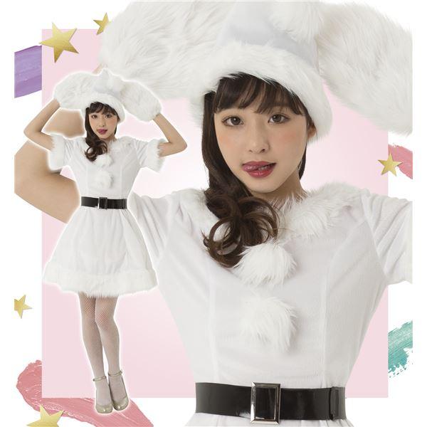 コスプレ・変装・仮装 コスチューム一式 関連 コスプレ クリスマス 衣装 カラフルサンタ レディース ホワイト