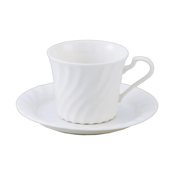 キッチン・食器 (まとめ) いちがま ニューボーン コーヒー碗皿 1セット(6客) 【×2セット】