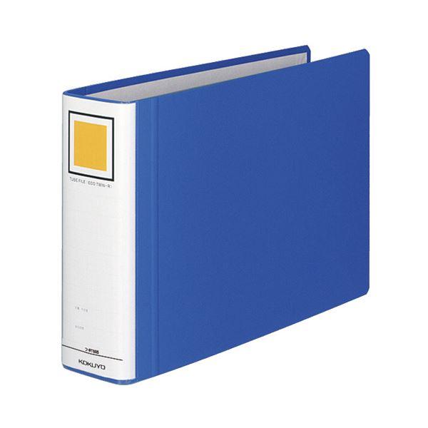 (まとめ) コクヨ チューブファイル(エコツインR) A4ヨコ 600枚収容 背幅75mm 青 フ-RT665B 1冊 【×5セット】