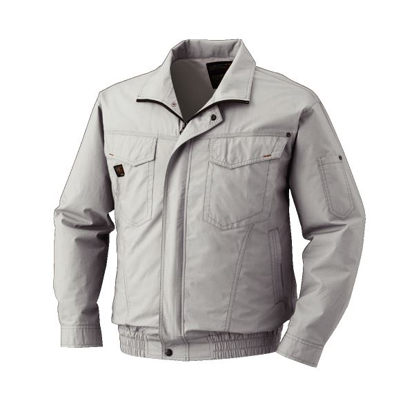 DIY・工具 空調服 綿薄手長袖タチエリブルゾン リチウムバッテリーセット BM-500TBC06S3 シルバー L