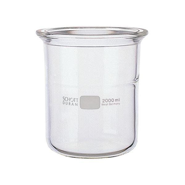 科学・研究・実験 関連商品 セパラブルフラスコ 円筒形 バンド式(SCHOTTタイプ) 150mm 2L