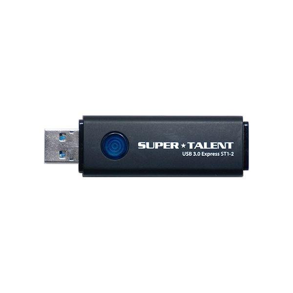 パソコン 外付けメモリカードリーダー 関連 SUPERTALENT USB3.0フラッシュメモリ 256GB ワンプッシュスライド式 ST3U56ES12
