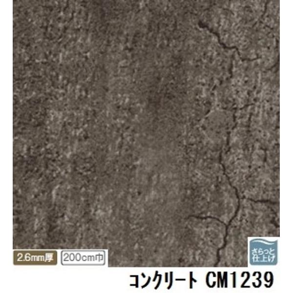 インテリア・寝具・収納 関連 サンゲツ 店舗用クッションフロア コンクリート 品番CM-1239 サイズ 200cm巾×8m