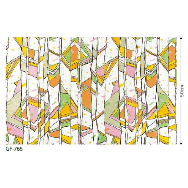 インテリア・寝具・収納 関連 ステンドグラス 飛散低減ガラスフィルム GF-765 91.5cm巾 5m巻