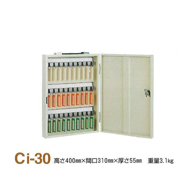 インテリア・寝具・収納 関連 キーボックス/鍵収納箱 【携帯・壁掛兼用/30個掛け】 スチール製 タチバナ製作所 Ci-30