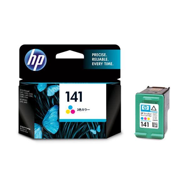 パソコン・周辺機器 PCサプライ・消耗品 インクカートリッジ 関連 (まとめ) HP141 プリントカートリッジ カラー CB337HJ 1個 【×3セット】