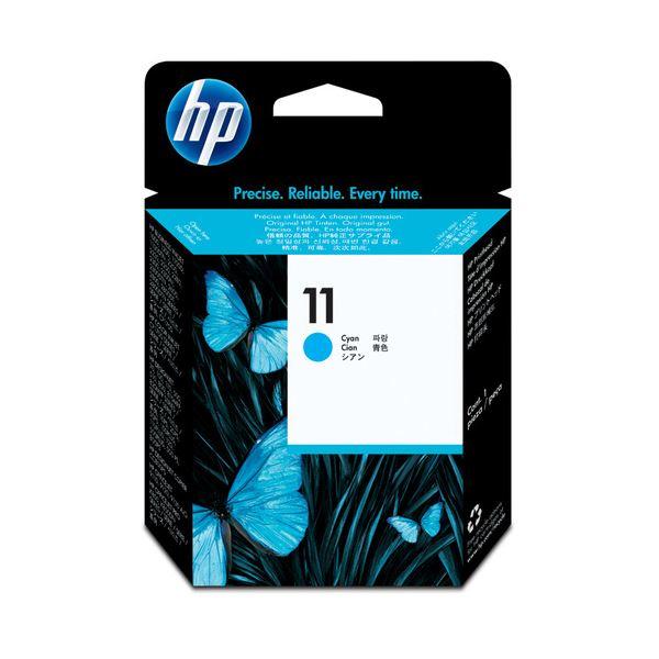 パソコン・周辺機器 (まとめ) HP11 プリントヘッド シアン C4811A 1個 【×3セット】