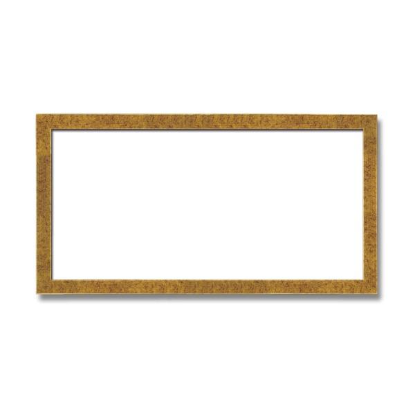インテリア・家具関連 木製額 縦横兼用額 前面アクリル仕様 ■金(銀)長方形額(600×300mm)金柄紋