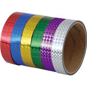 日用品雑貨 生活日用品 雑貨 (まとめ買い)粘着ホログラムテープ (10本組) 紫 【×15セット】