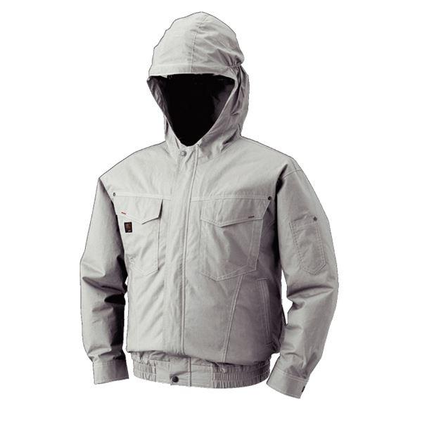 スポーツ・レジャー 空調服 フード付綿薄手長袖ブルゾン リチウムバッテリーセット BM-500FC06S3 シルバー L