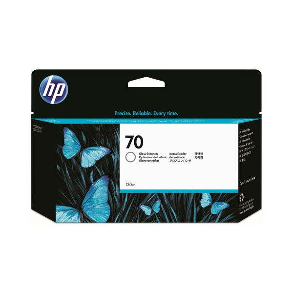 AV・デジモノ (まとめ) HP70 インクカートリッジ グロスエンハンサ 130ml 顔料系 C9459A 1個 【×3セット】