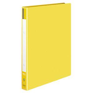 (まとめ) コクヨ リングファイル 色厚板紙表紙 A4タテ 2穴 170枚収容 背幅30mm 黄 フ-420NY 1冊 【×10セット】