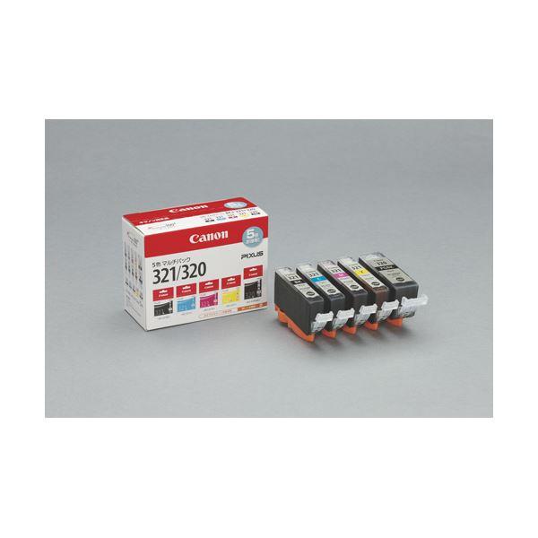 パソコン・周辺機器 PCサプライ・消耗品 インクカートリッジ 関連 キヤノン インクタンク BCI-321+BCI-320 マルチパック BCI-321+320/5MP