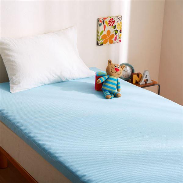 寝具 関連商品 リバーシブルウレタンマットレス ブルー シングル