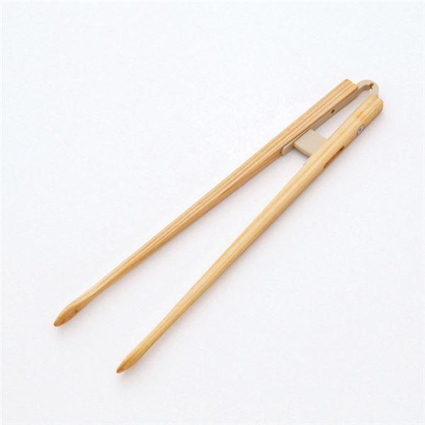 介護用品 関連 (まとめ)創芸 食事用具 箸一番がっちりさん(4)クリアー塗り SH-105【×3セット】