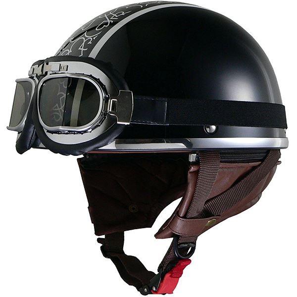 レディースハーフヘルメット QH4 HEART(BK・ハート) フリー (57~58cm未満)