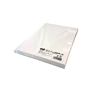 プリンター (まとめ) TANOSEE カラーレーザー・IJ用名刺用紙 10面 白 1冊(100シート) 【×5セット】