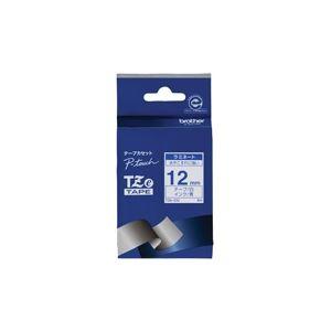 (業務用30セット) ブラザー工業 文字テープ TZe-233白に青文字 12mm 【×30セット】