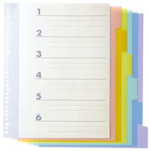 文具・オフィス用品 (まとめ) TANOSEE インデックス(PP) A4タテ 4・30穴 6山2組 1パック 【×15セット】