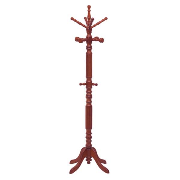 生活 雑貨 通販 イタリアンコートハンガー(ポールハンガー) 木製 幅62cm×奥行62cm×高さ189cm ブラウン【組立品】【代引不可】