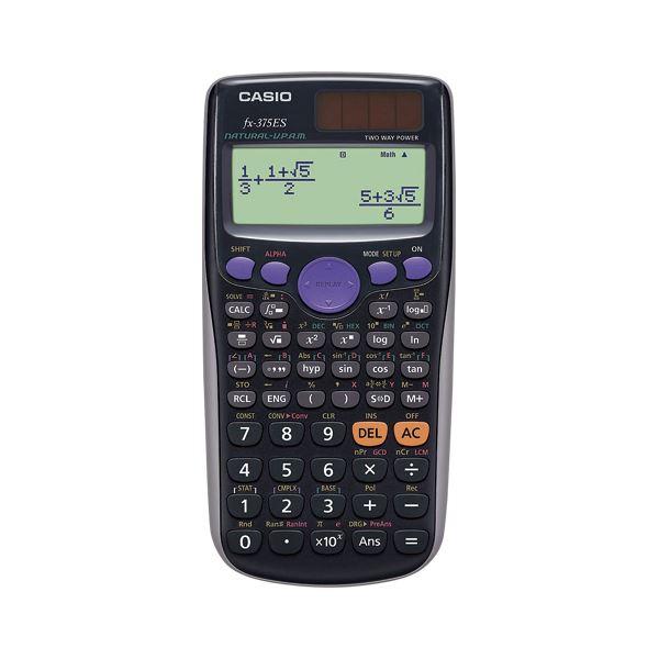 文具・オフィス用品 (業務用セット) カシオ 関数電卓 fx-375ES-N 1台入 【×2セット】