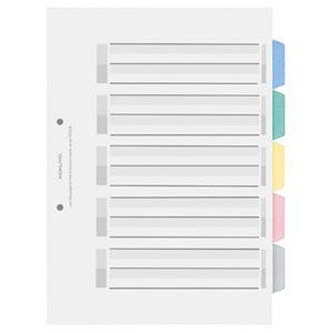 (まとめ) コクヨ カラー仕切カード(PP) ファイル用 A4タテ 2穴 5色 5山見出し+扉紙 シキ-P20 1組 【×30セット】