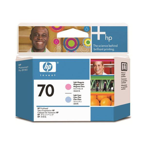パソコン・周辺機器 PCサプライ・消耗品 インクカートリッジ 関連 (まとめ) HP70 プリントヘッド ライトマゼンタ/ライトシアン C9405A 1個 【×3セット】