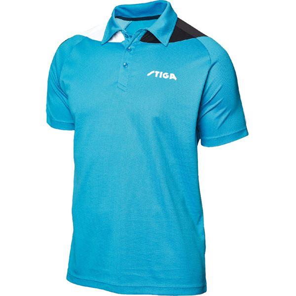 STIGA(スティガ) 卓球ユニフォーム PACIFIC SHIRT パシフィックシャツ ブルー×ブラック M