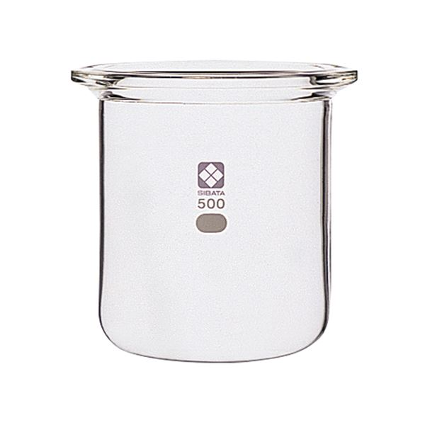 セパラブルフラスコ 円筒形 バンド式 85mm 1L
