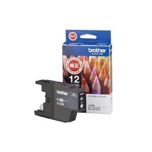 AV・デジモノ (業務用20セット) ブラザー工業 インクカートリッジ LC12BKブラック 【×20セット】