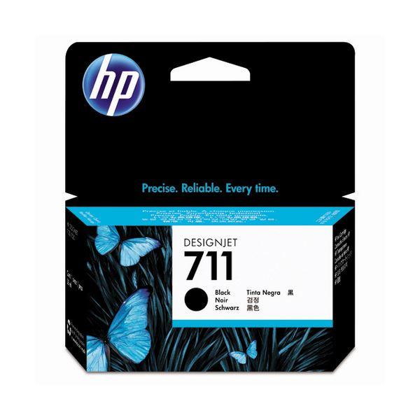 パソコン・周辺機器 (まとめ) HP711 インクカートリッジ ブラック 38ml 顔料系 CZ129A 1個 【×3セット】