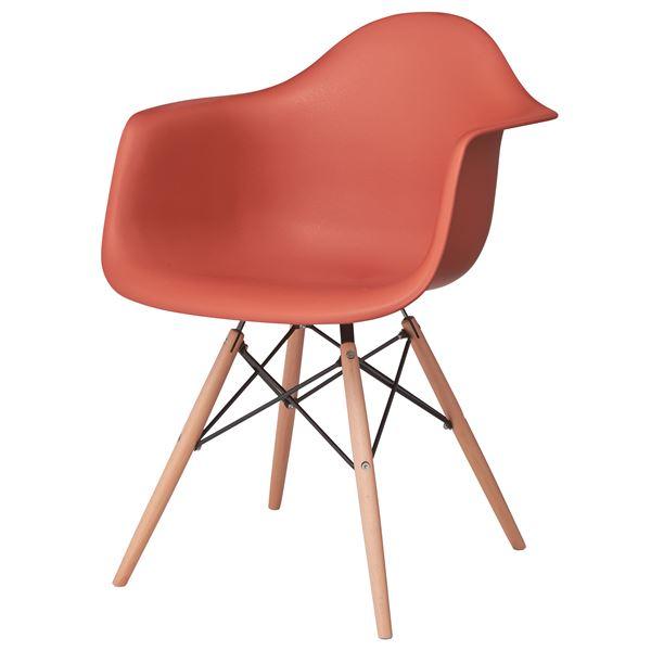 【薬用入浴剤 招福の湯 付き】インテリア 寝具 収納 イス チェア インテリア 家具 椅子 関連 天然木使用のチェアー/椅子 生活用品・インテリア・雑貨 (2脚セット)東谷 アームチェア 組立 オレンジ CL-799OR