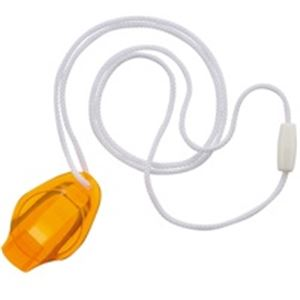 文具・オフィス用品 (業務用100セット) MJC 非常用笛E-Call オレンジ E-C-09 【×100セット】